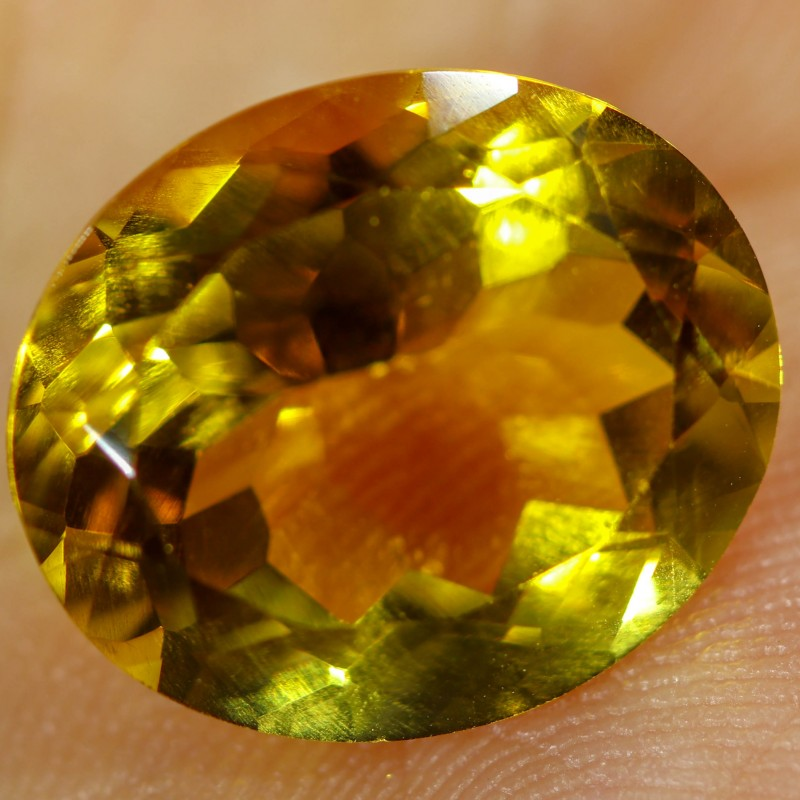 5.40 CTS FIERY  CITRINE -CUT FROM OUR ROUGH  [STS1127]
