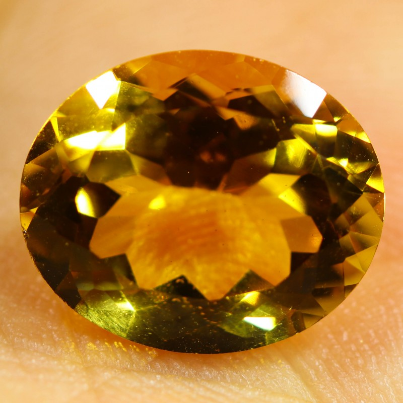 4.05 CTS FIERY  CITRINE -CUT FROM OUR ROUGH  [STS1128]
