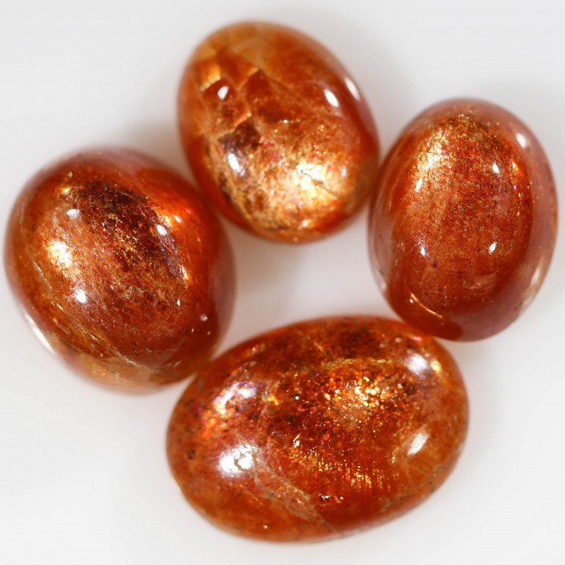 19.15 CTS FIERY CABOCHON SUNSTONE FROM TANZANIA [STS1095]