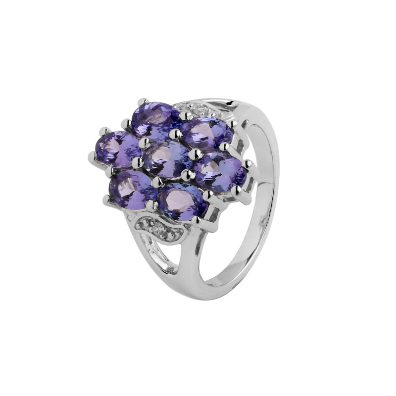 Tanzanite 925 Tanzanite: Tanzanite 925 Sterling Silver Ring #491