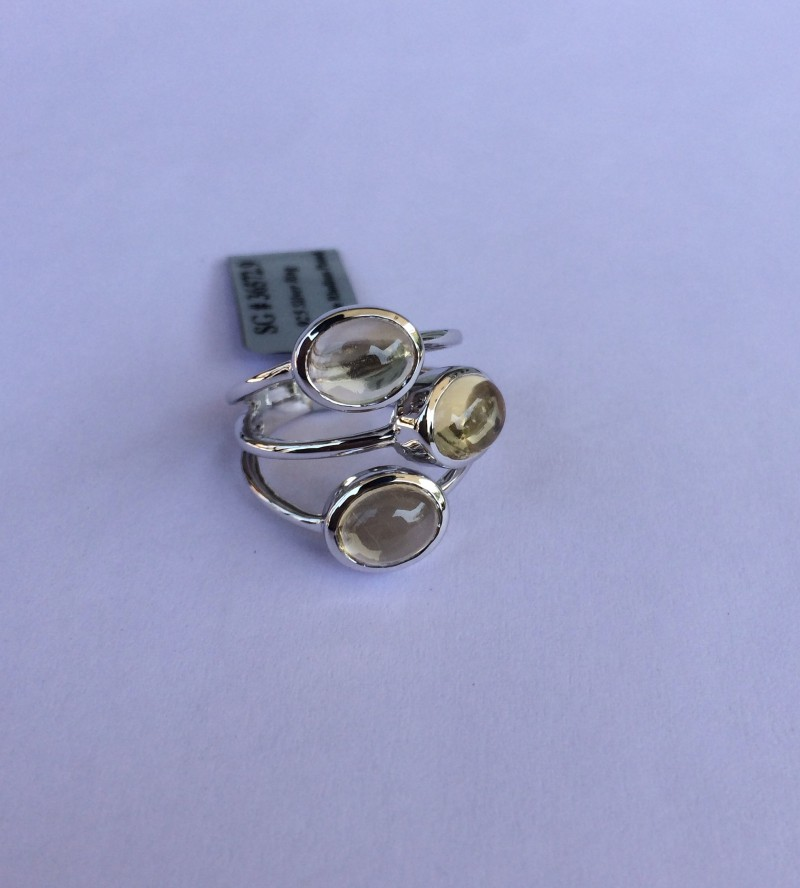 Citrine 925 Sterling silver ring #572