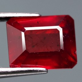 4.22 Cts . Top Quality Blood Red Natural Ruby Mozambique Gem