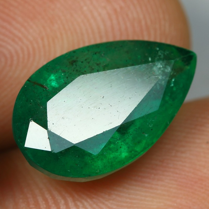 7.15cts Incredible BIG SIZE Pear Cut ZAMBIA EMERALD