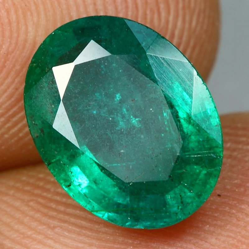 3.10cts Incredible Oval Cut ZAMBIA EMERALD