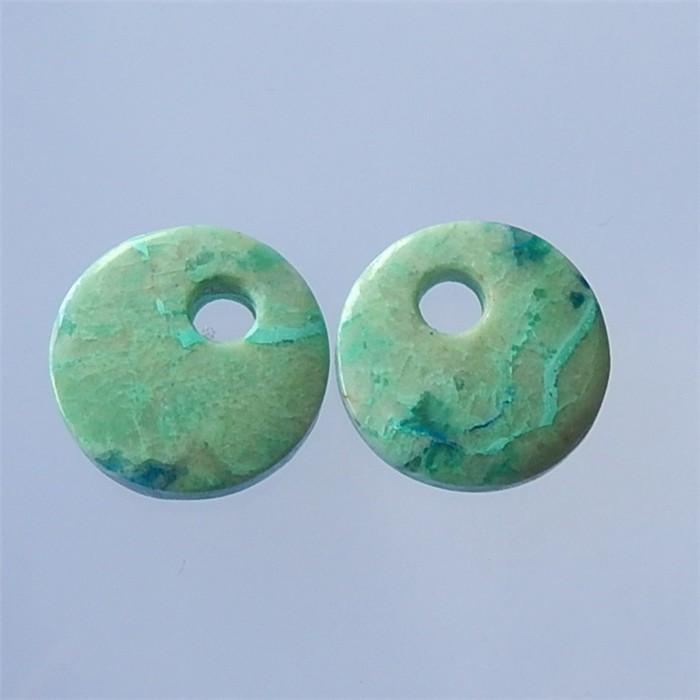 50ct Natural Chrysocolla Earring Pair wholesale gemstone (18032103)