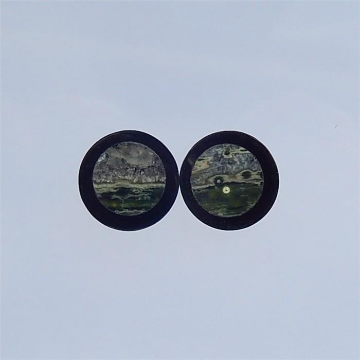 13ct Natural Obsidian And  Ocean Jasper  Cabochons(18032107)
