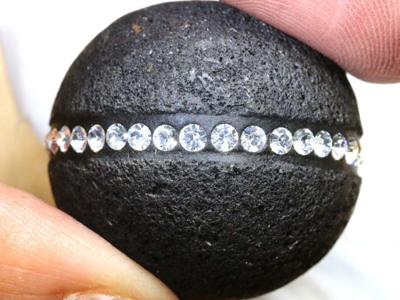 62.85CTS LAVA BEAD  DRILLED NP-2360