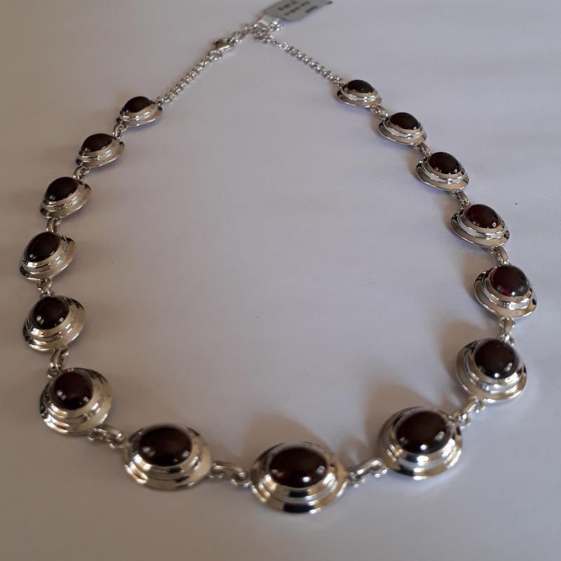 Garnet Necklace 925 Sterling silver #33711