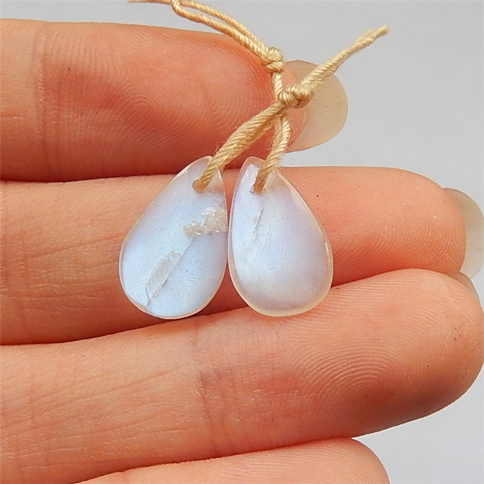 5.5ct Natural Moon Stone Earring Pair(18032502)