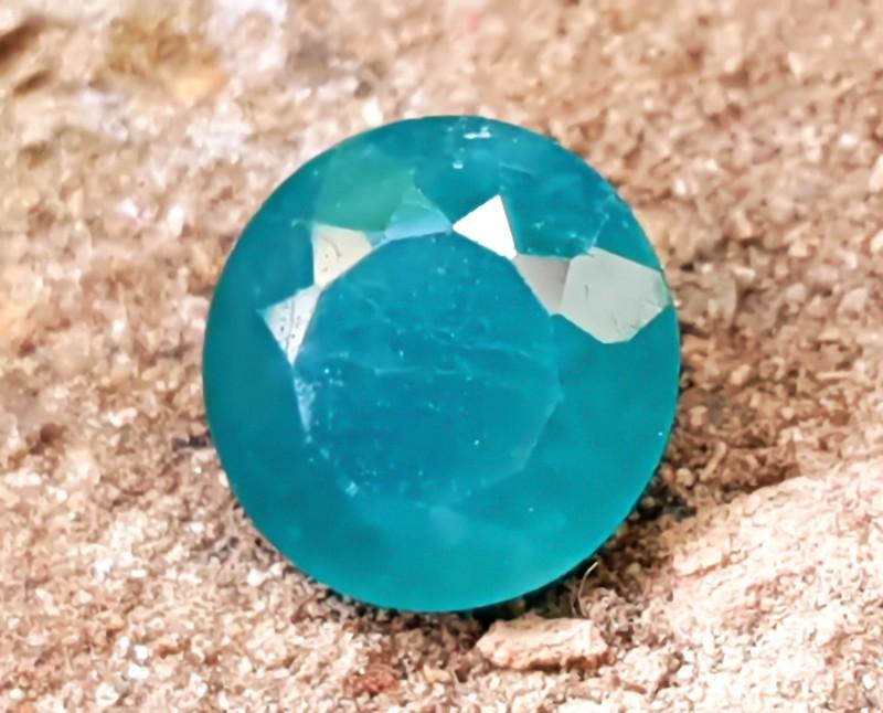 1.70 CTS NATURAL GREENISH BLUE ROUND CUT RARE GRANDIDIERITE GEMSTONE