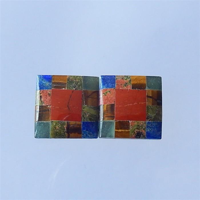 18ct Square Red River Jasper,Lapis Lazuli, Unakite Jasper And Obsidian  Co