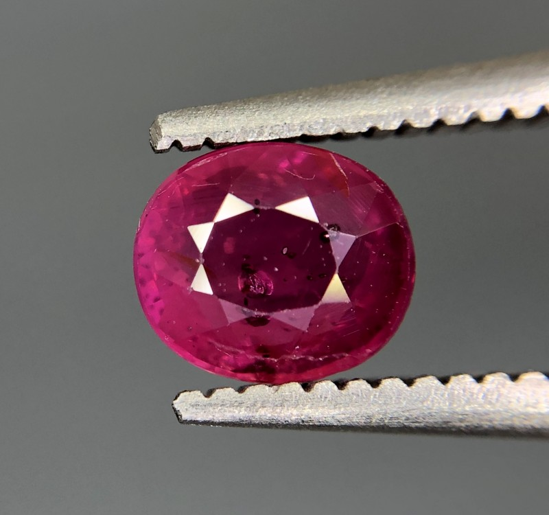 0.75 CRT GIL Certified Natural Unheated Ruby Facetted Gemstone