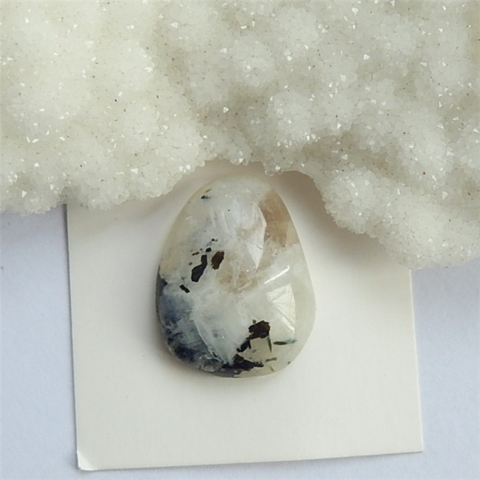 20.9ct Natural Drusy White Quartz Cabochon  (18032710)