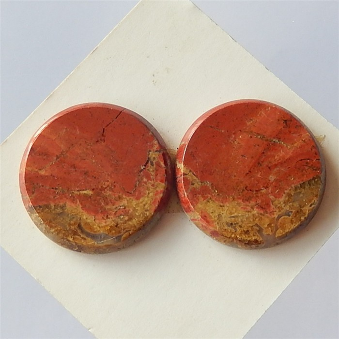 30.1ct Natural Red River Jasper  Cabochon  Pair(18032711)