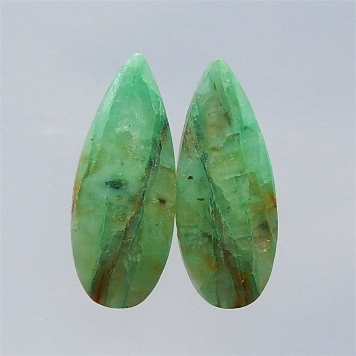32ct 2pcs Natural Chrysocolla Cabochon Pair for Jewelry Makingt(18032713)
