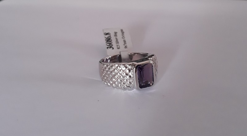 Amethyst 925 Sterling silver ring #086
