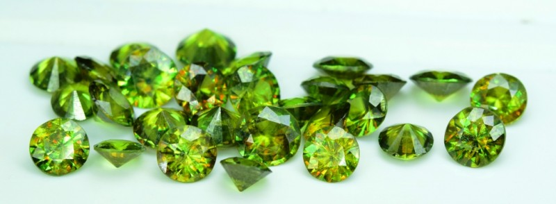 22.10 carats AAA Color Full Fire Natural Chrome Sphene Loose Gemstones Lot