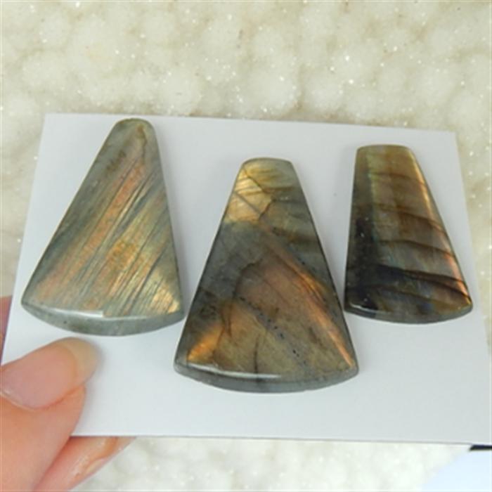 85.75ct  Natural Labradorite Cabochon 31X17X4mm   37X24X6mm (18032802)