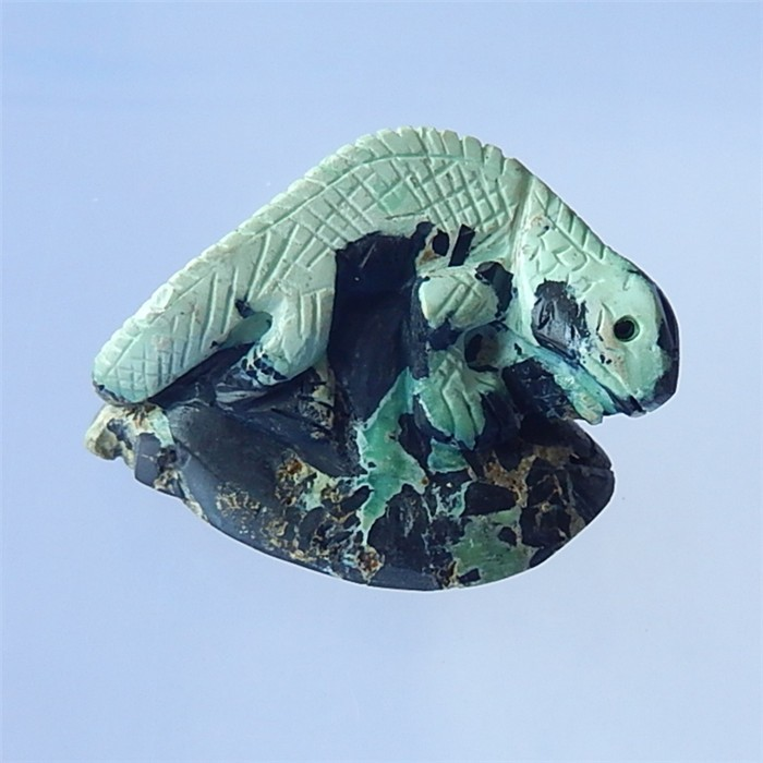 116.5ct Tuquoise Craved Lizard  Cabochon  (18032813)