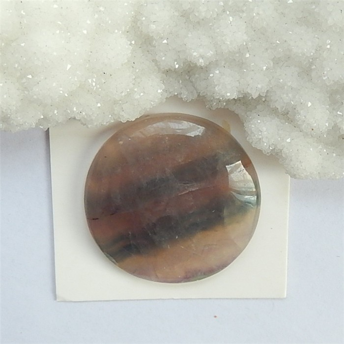 54ct Natural Round Rainbow Fluorite Cabochon (18032828)