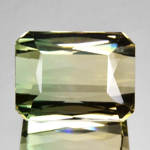 10.21 Cts Natural Light Bi-Color Tourmaline Octagon Cut Mozambique