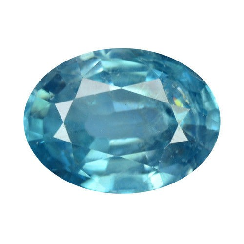 Oval Natural Blue Zircon - 1.66 ct - Heated !