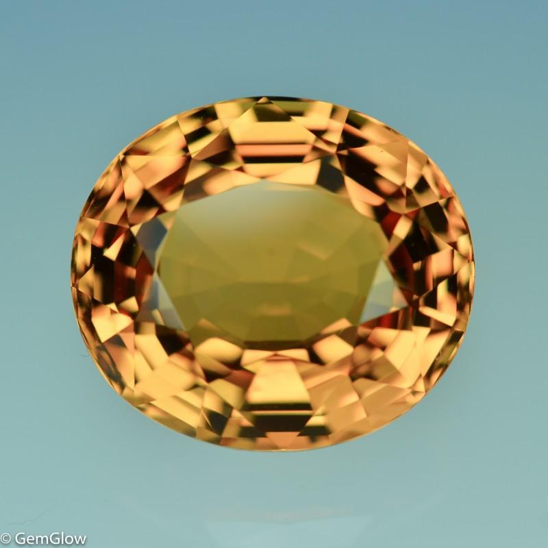 30.23 Cts Dazzling Brillant Cut Yellow Tourmaline