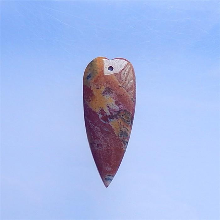 77.ct Natural Ocean Jasper Heart shape Pendant(18040324)
