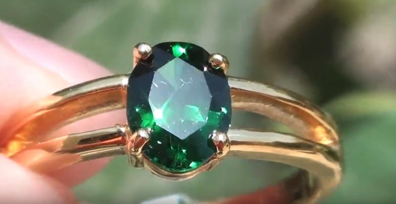 Tsavorite Garnet 1.21ct 18ct Solid Gold Ring