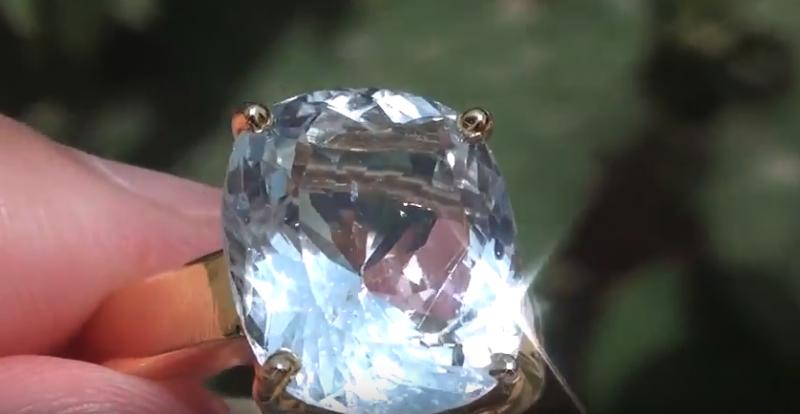 Natural Aquamarine 7.70ct 18ct Solid Gold Ring
