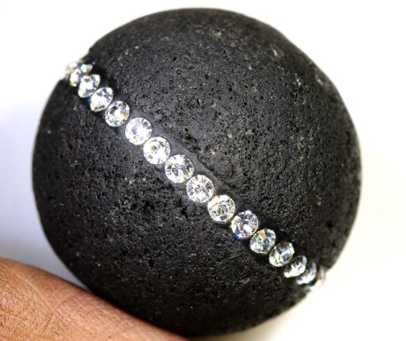 72.0CTS LAVA BEAD  DRILLED NP-2363