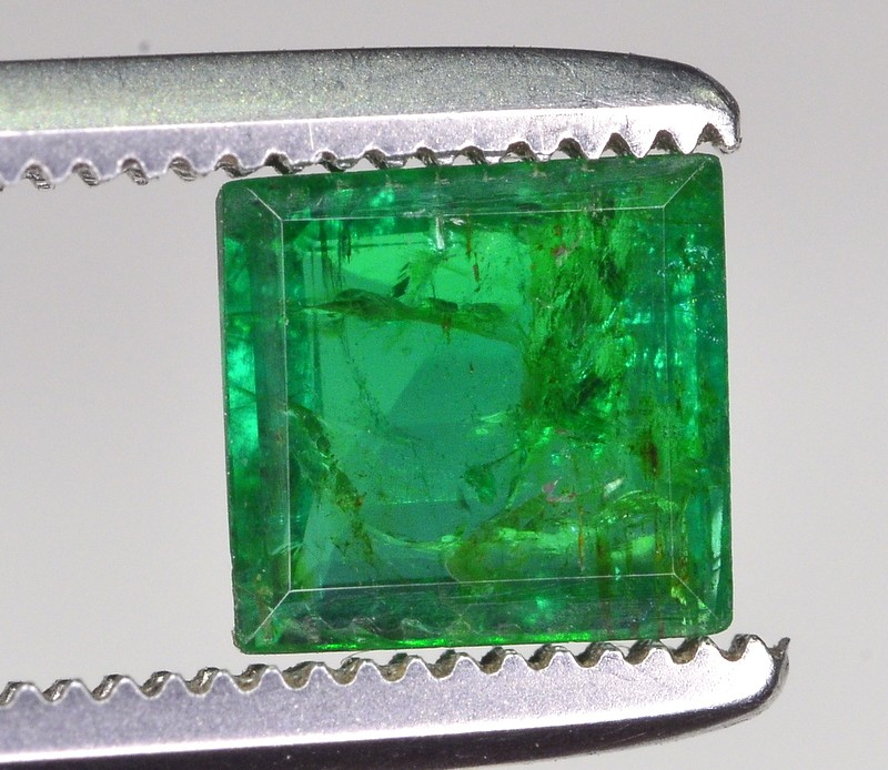 0.75 Ct Brilliant Luster and Color Green Emerald From swat