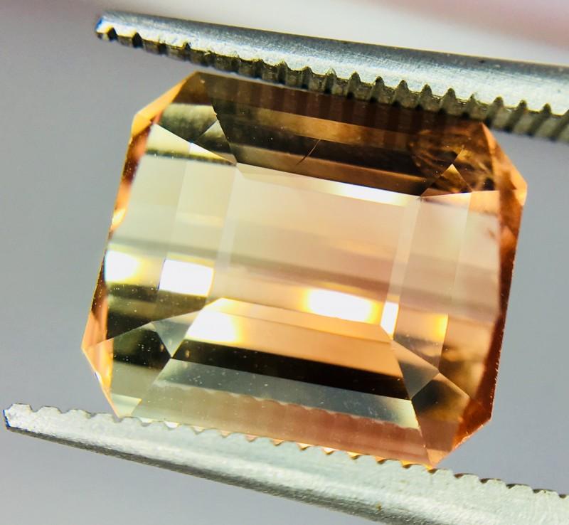 6.10 Crt Bi-Color Tourmaline Facetted Gemstone Clean Good Luster
