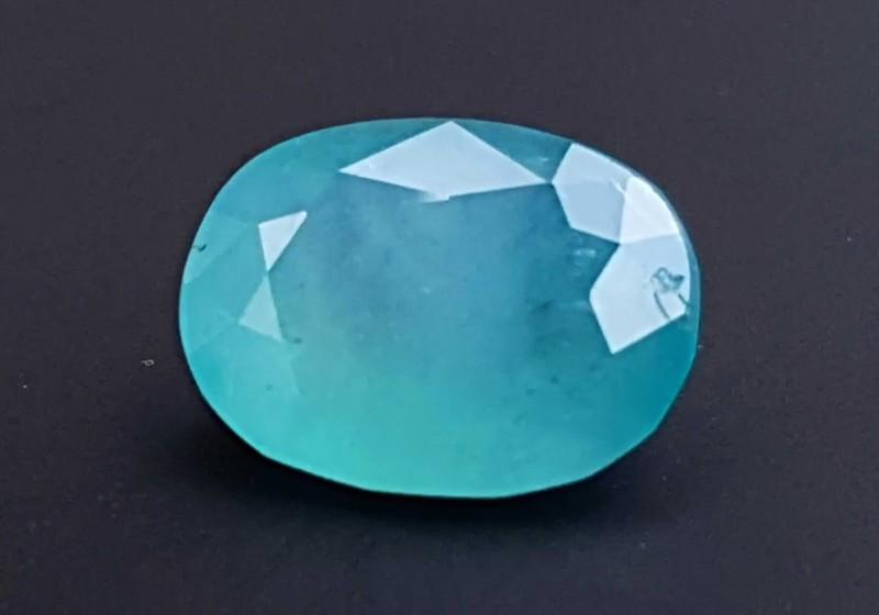 3.5 cts Grandidierite Blueish Oval Cut Gemstone