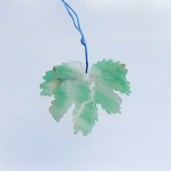 55.5ct Natural Green Aventurine Leaf Pendant(18040806)