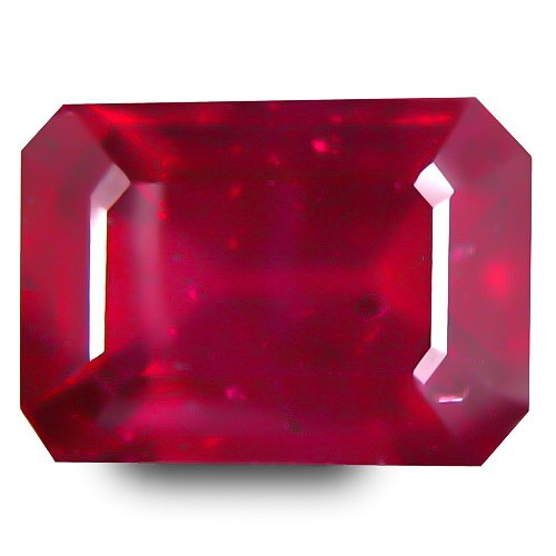 7.20 Cts Ruby Natural Blood Red Glass Filled !! Heated Madagascar