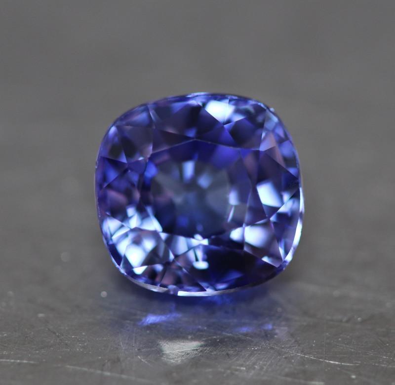 Natural cushion blue tanzanite.