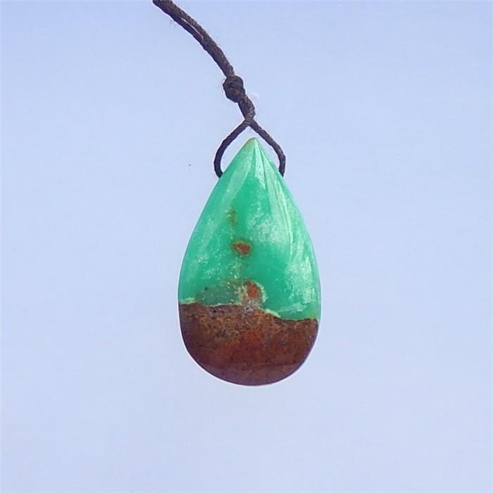 39.5ct  Hot Sale  Teardrop Chrysoprase  Pendant(18041001)