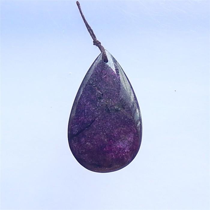 75ct Fashion Teardrop African Purple Jasper Pendant(18041004)