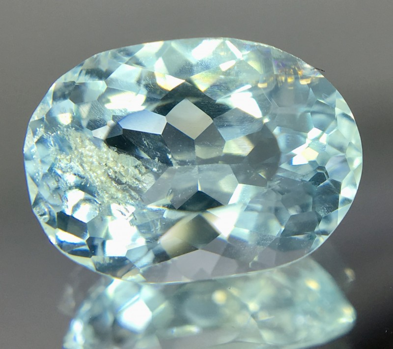 2.50 Crt Aquamarine Faceted Gemstone
