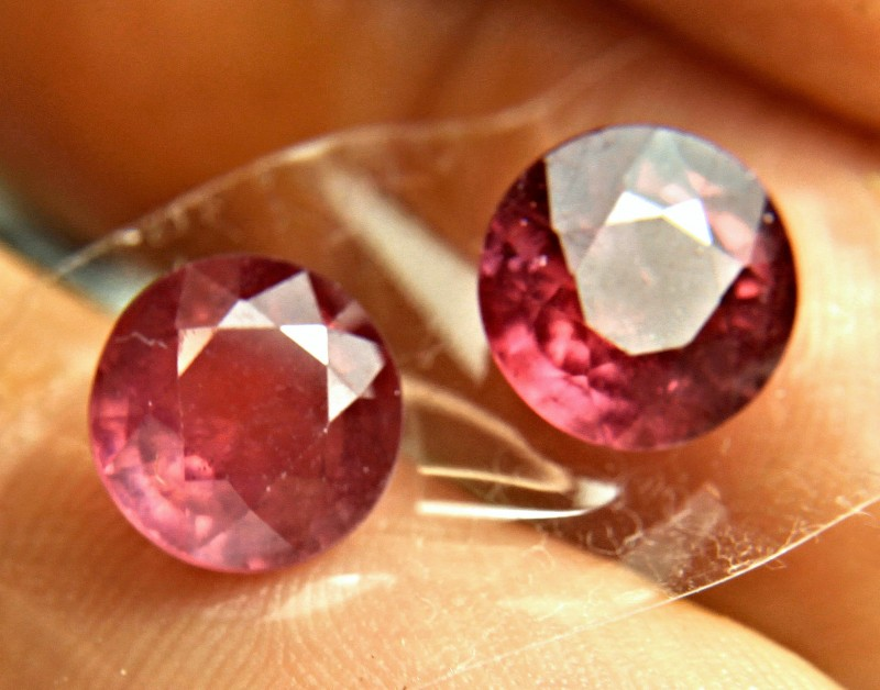7.42 Carat Matched 9mm Fiery Rubies - Gorgeous