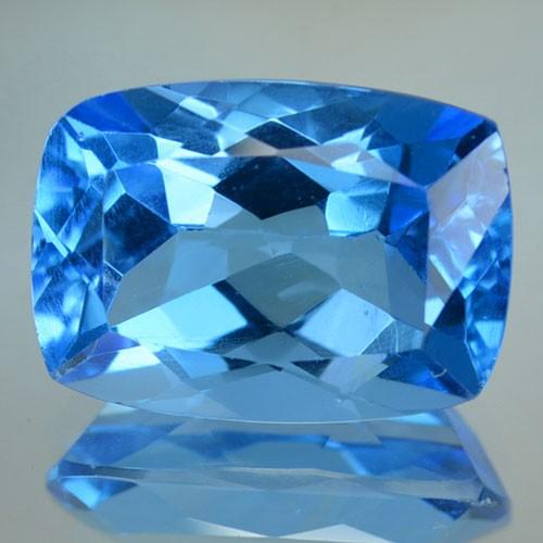 8 90 Cts Natural Sky Blue Topaz Cushion Cut Brazil