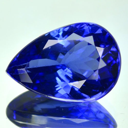 6.17 Cts Natural Purple Blue Tanzanite Pear Cut Tanzania