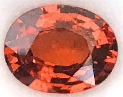 2.4ct Sparkling Reddish Orange African Spessarite Garnet A134 F37 G415
