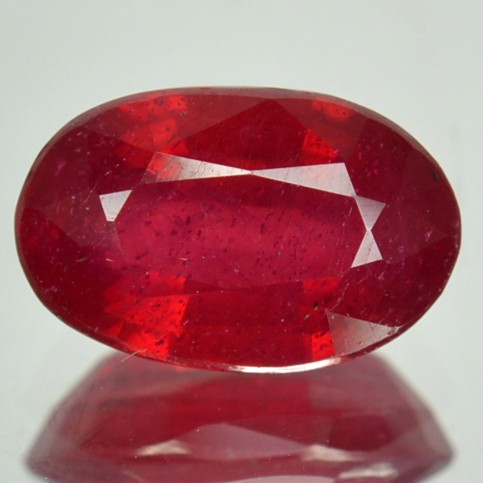 2.87 Cts Composite Red Ruby Oval Cut Thailand Gem