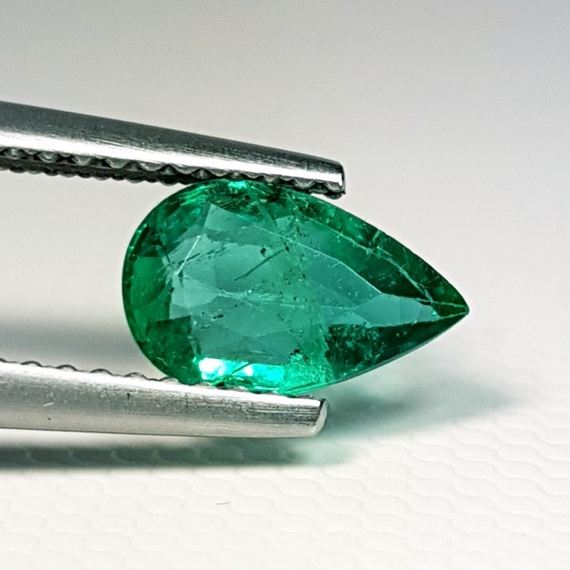 for factory making cubic good gemstone loose aaa cz quality synthetic green zirconia jewelry grad product emerald direct from cut pear