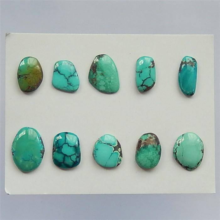 70ct 10Pcs Beautiful Nugget Turquoise Cabochon 20x15x5mm.16x9x4mm(18041301)