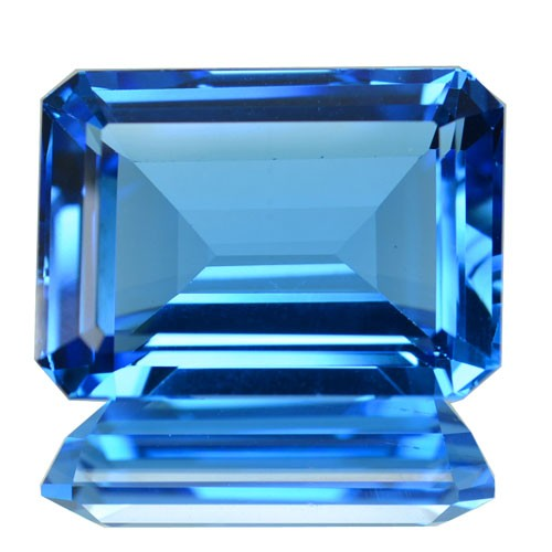 ~JEWELRY GRADE~ 19.15 Cts Natural Swiss Blue Topaz Octagon Cut Brazil