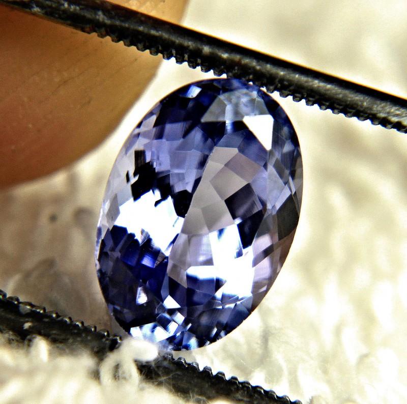 CERTIFIED - 3.14 Carat Purple / Blue VVS1 African Tanzanite - Gorgeous