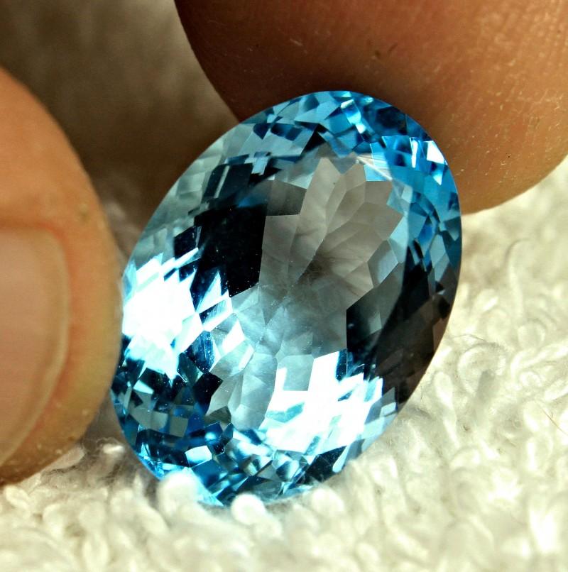 14.76 Carat VVS Blue Brazilian Topaz - Gorgeous